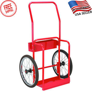 Welding Gas Cart Oxy Acetylene Cylinder Tank Holding Welder Hand Truck Dolly New