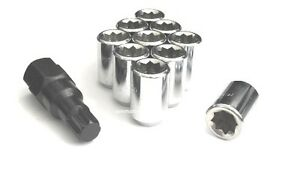 32 12x1 5 Wheel Lock 8 Point Tuner Lug Nuts Open Honda Lexus Toyota Mazda 3 Keys