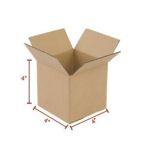 100 1000 4x4x4 Shipping Boxs Packing Mailing Moving Storage Corrugated Mailers