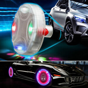 Tire Tyre Air Valve Stem Wheel Well Rim Led Light Lamp 15 Mode Neon For Car Usa