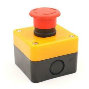 Baomain Red Sign Emergency Stop Switch Push Button Weatherproof Push Button