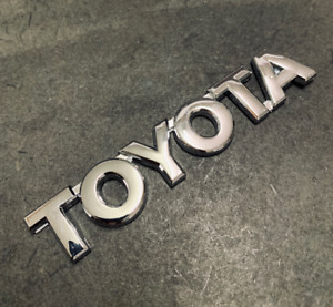 Chrome Rear Emblem Badge Trunk For Toyota Logo 1 5 X 5 Tacoma 4runner Tundra