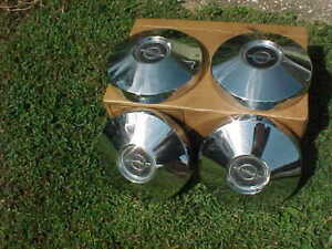 Set 4 Buick Opel Dog Dish Bowl Hubcaps 9 1 2 Also Great Trailer Wheel Covers
