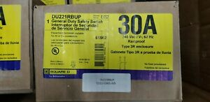 New Square D Du221rbup Rainproof Safety Switch 30a 240v