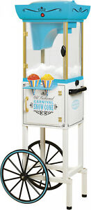 Snow Cone Cart Nostalgia 48 Icy Treats 48 inch Tall Kids Party Treat White blue