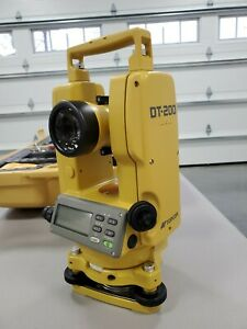 Topcon Dt 200 Series dt 205 Digital Theodolite With 90 Degree Eyepiece