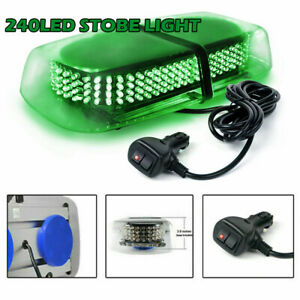240 Led Car Hazard Magnet Strobe Flashing Light Warn Traffic Advisor Lamp Green