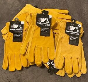 Wells Lamont Premium Cowhide Leather Heavy Duty Work Gloves Large Qty Discount