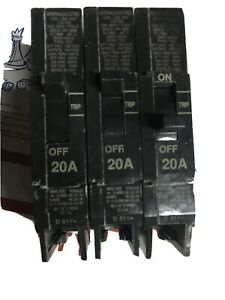 General Electric Xr 1566 Single Phase 1 Working Lot Of 3 Breakers