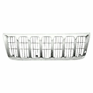 New 1999 2003 Fits Jeep Grand Cherokee Grille Chrome Ch1200221 55155921ab