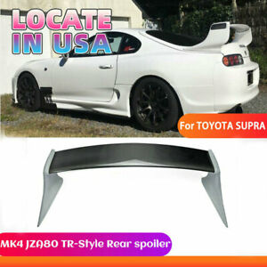 For Toyota 93 98 Supra Mk4 Jza80 Tr style Carbon Frp Rear Spoiler Wing Bodykit