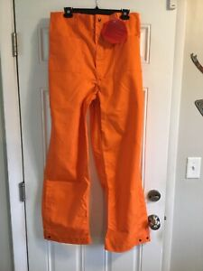 Wildland Firefighter Orange Nomex Pants Size Large l Barrier Wear New With Tag
