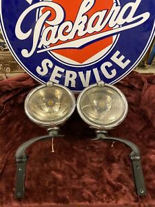 Pair Senior Trippe Speedlight Safety Light With Levels Packard Cadillac Buick