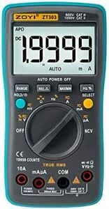Zt303 Digital Multimeter 8000 Counts True rms Back Light Ac Dc Voltage Ammeter C