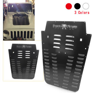1x Aluminum Vents Hood Louvers Multi Color For Jeep Wrangler Jk 2013 2018 2017