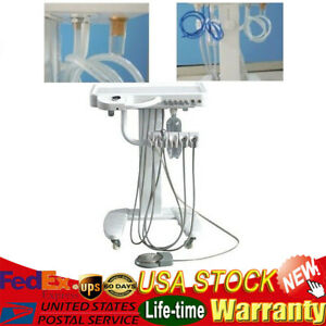 Portable Dental Delivery Mobile Cart Unit System 4h Treatment Equip weak Suction