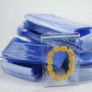 Pvc Anti oxidation Plastic Bags Clear Zip Lock Jewelry Packaging Pouch 100pcs