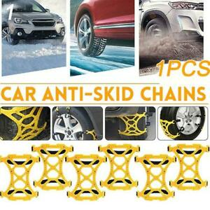 Car Truck Wheel Tire Mud Anti Skid Chains Emergency Belt Accessories