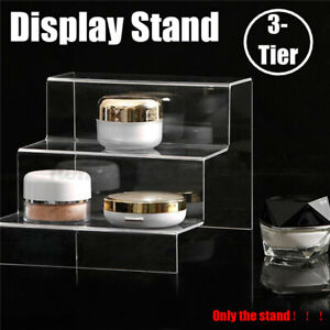 3 Tier Deluxe Acrylic Display Stand Removable Rack Figures Perfume Jewelry Model