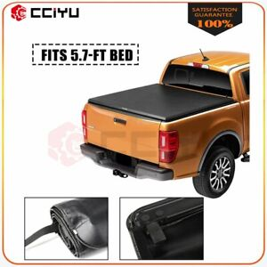 Soft Roll Up Tonneau Cover For 2013 2018 Dodge Ram 1500 Crew Cab 5 7feet Bed