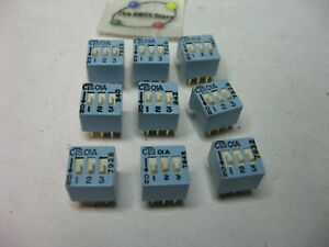 Dip Switch 3 Position Spst Through Hole Pcb Cts 01a Nos Qty 9