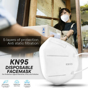 Kn95 Protective Face Mask 50 Pcs 5 layer Pm2 5 95 Disposable Respirator Cover