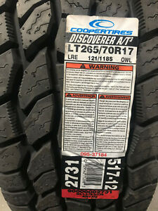 2 New Lt 265 70 17 Lre 10 Ply Cooper Discoverer A T3 Tires