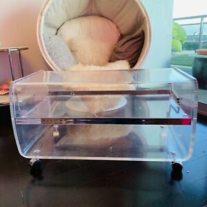 Vintage Mid Century Modern Lucite Coffee Table Display Case