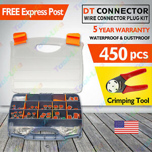 Deutsch Dt Connector Kit 450pcs With Genuine Crimping Tool Automotive Marine Usa