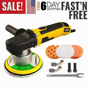 6 Dual Action Random Orbital Car Polisher Buffer Sander Polishing Machine Kit A
