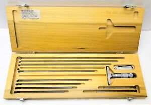 Brown Sharpe 12 Depth Micrometer Gage Set With Case