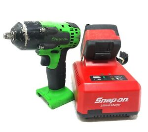 Snap On Lithium Ion Ct8810bg 18v Cordless 3 8 Impact Wrench W battery Charger