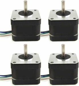 4pcs Nema 17 42mm Stepper Motor 42oz in 1a 3d Printer Reprap Arduino Diy Cnc