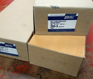 Quill 283 3 No 3 Coin Envelopes 2 1 2 X 4 1 4 500 Brown Kraft 2 Boxes