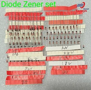 Zener Diode 140pcs 1 5v 30v 14 Values 1 2w 0 5w Assorted Kit Assortment Set