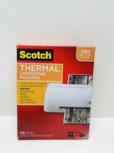 Scotch Letter Size Thermal Laminating Pouches 200 pack mmmtp3854200