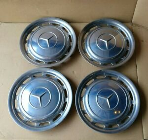 Set Of 4 Genuine Oem 1965 1985 Mercedes Benz 14 Hubcaps Wheel Covers Trims