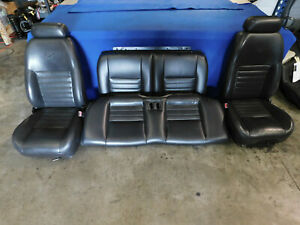 99 00 01 02 03 04 Ford Mustang Coupe Dk Charcoal Seat Set Seats Oem K51