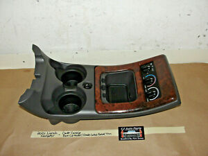 01 Lincoln Navigator Center Console Front Cup Holder Climate Control Bezel Trim