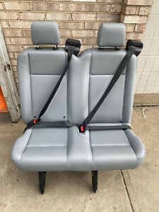 2019 Ford Transit Van 2 Person Seat Gray Vinil Inv 4 With Track Brackets 36
