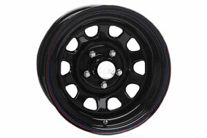 Rough Country Daytona Steel Wheel Black 15x8 5x4 5 5x114 3 Rc158545