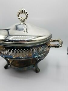 Silver Plated Round Chafing Dish Buffet Chafer Warmer Set With Lid