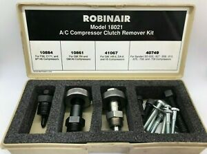 Robinair Usa Ac Compressor Clutch Remover Kit Set Tool Lot Air Conditioning Case