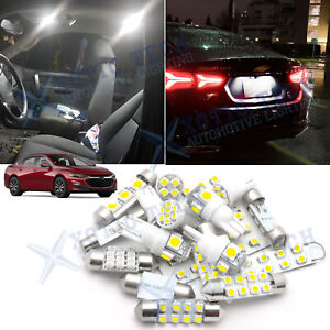 White Led Lights Interior Dome Map Package Kit For Chevy Malibu 2016 2017 2018