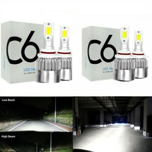 Combo Led High Low Beam Headlight Bulb For Toyota Corolla 2001 2013 4pc 6000k