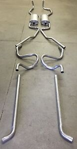 1959 1960 Cadillac Dual Exhaust System Aluminized With Resonators