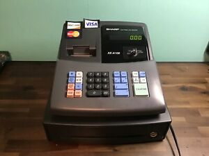 Sharp Electronic Cash Register Xe a 106 Missing Drawer Key Led Display