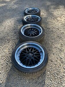 Str Racing Style 601 Bmw E46 M3 Black Polished 19 Wheels Tires