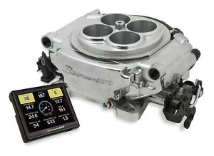 Holley Sniper 550 510 Efi Self Tuning Fuel Injection Base Kit With Shiny Finish