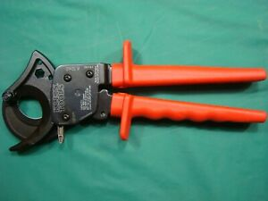klein Tools 63060 10 1 4 In Ratcheting Cable Cutter New